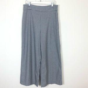 Zara Womens High Rise Wide Leg Crop Trouser Pants